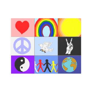 peaceloveunity Mosaic Metal Print