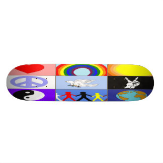 peaceloveunity Mosaic Skateboard