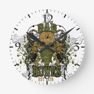peacemaker falls asleep on the silver star round wall clock