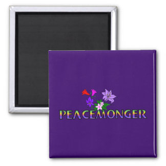 Peacemonger 2 Inch Square Magnet