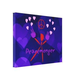 Peacemonger colorido impresiones en lona