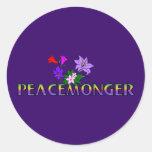 Peacemonger Etiquetas Redondas