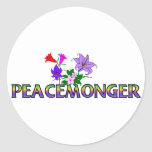 Peacemonger Pegatinas Redondas