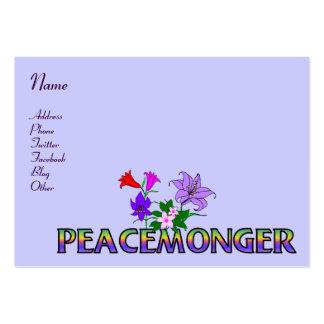Peacemonger Plantilla De Tarjeta De Visita