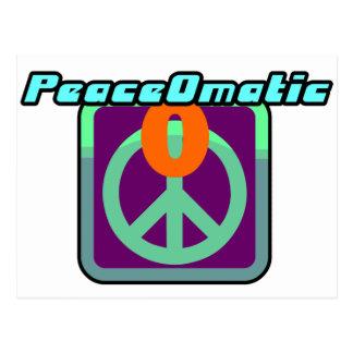 PeaceOmatic World peace Postcard