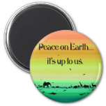 peaceonearth14x14 magnets