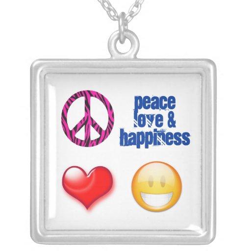PeaceSignPinkZebra, smiley-white, heart, PeaceL... Jewelry