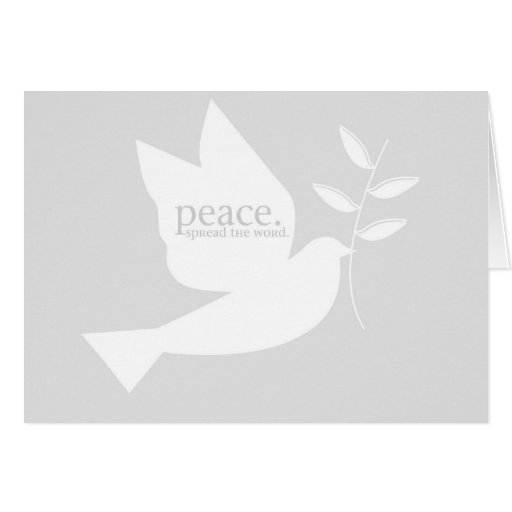 PeaceSpreadTheWord Tarjeta De Felicitación