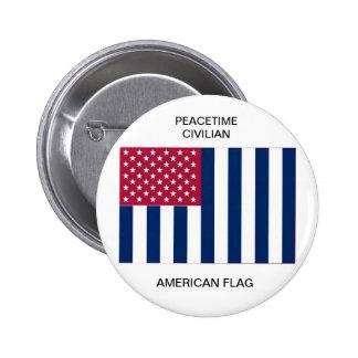 Peacetime Civilian American Flag Pinback Button