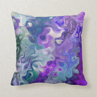 Peacfully Dreamy Purple swirls modern abstract 33 Throw Pillow