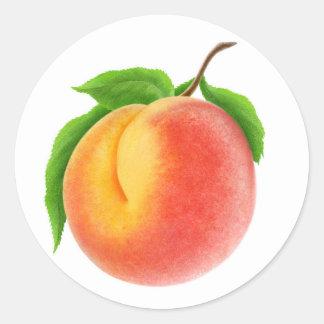 Peach #1 classic round sticker
