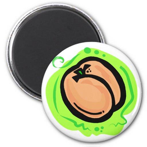 Peach 2 Inch Round Magnet