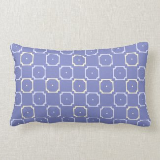 Peach and Blue Block Pattern Reversible
