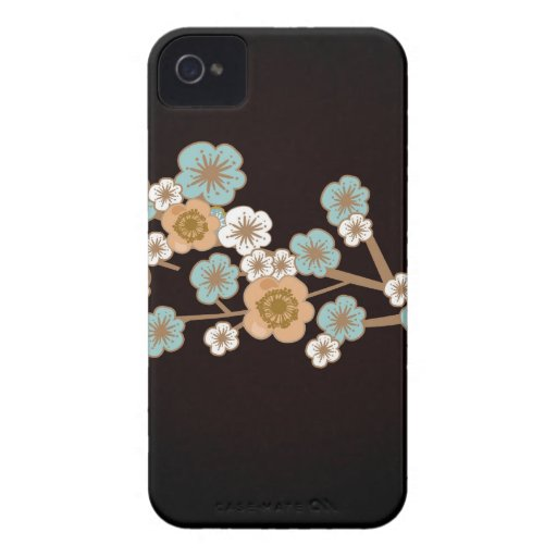 Peach and blue sakura flowers Case-Mate Case Blackberry Case