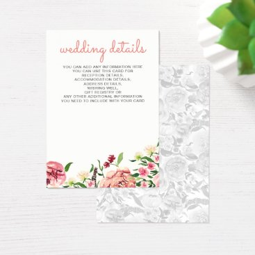 Peach and Coral Flowers Floral wedding cards