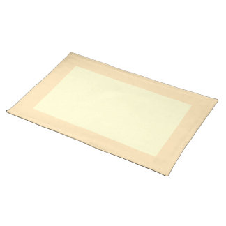 Peach and Cream-Colored Placemat