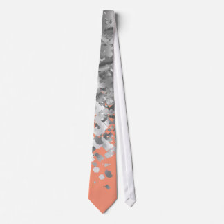 Peach and faux glitter personalized neck tie