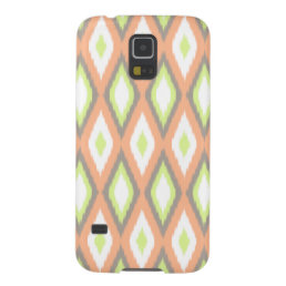 Peach and Green Ikat Pattern Galaxy S5 Case