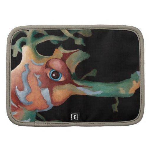 Peach and green seahorse organizer