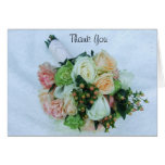 Peach and Ivory Roses Wedding Bouquet Greeting Cards