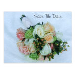 Peach and Ivory Roses Wedding Bouquet Post Cards