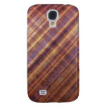 Peach and Lavender Damask Stripes Galaxy S4 Covers