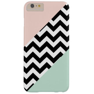 Peach and Mint Color Block Chevron Barely There iPhone 6 Plus Case