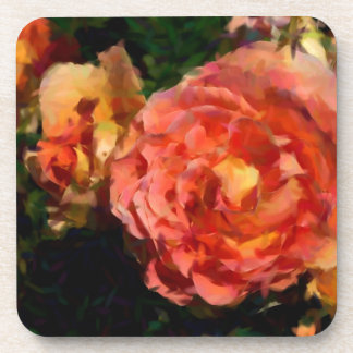Peach And Orange Products Beverage Coaster