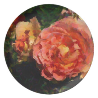 Peach And Orange Products Dinner Plate