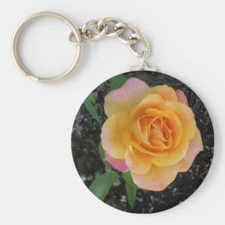 Peach and Orange Rose Key Chains