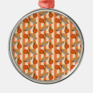 Peach and  pie patten metal ornament