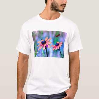 Peach and Pink Flowers T-Shirt