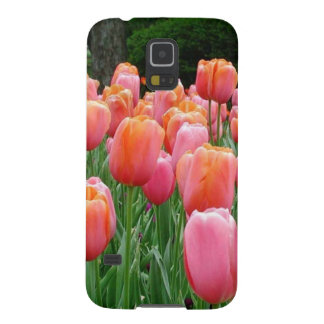 Peach and Pink Tulips Galaxy S5 Case