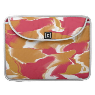 Peach and Pink Waves Apple Macbook Pro Sleeve For MacBook Pro