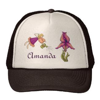 Peach and Purple Iris and Fairy Cap Trucker Hat