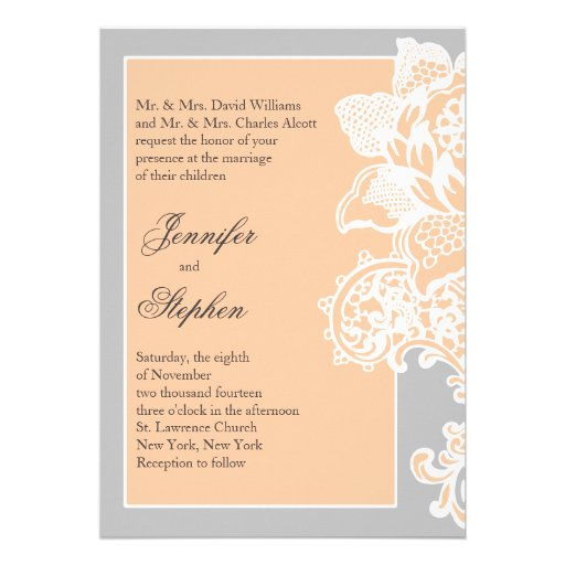 Floral Scroll Wedding Invitations Matching Rsvp Cards And Stationery