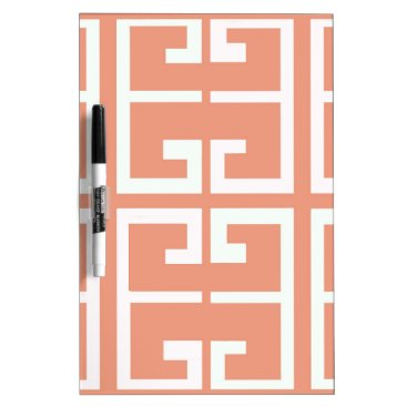 Aztec Themed Peach and White Tile Dry Erase Board
