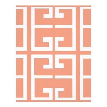 Aztec Themed Peach and White Tile Letterhead