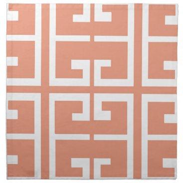 Aztec Themed Peach and White Tile Napkin