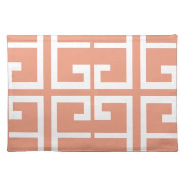 Aztec Themed Peach and White Tile Placemat