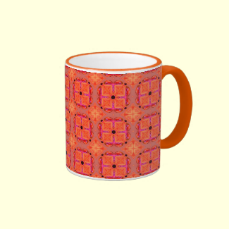 Peach Apricot Cinnamon Nutmeg Kitchen Modern Abstr Mugs