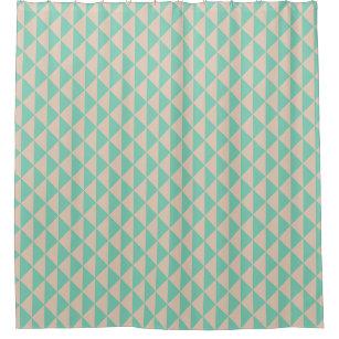Peach Arrows Changeable Mint Background Color Shower Curtain