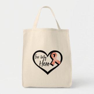 Peach Awareness Ribbon For My Hero Tote Bag