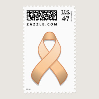 Peach Awareness Ribbon Postage