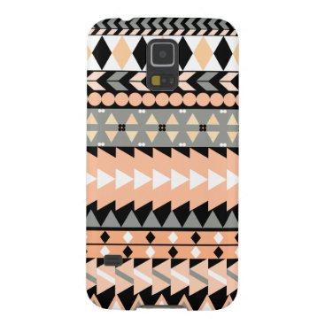 Aztec Themed Peach Aztec Black Galaxy S5 Case