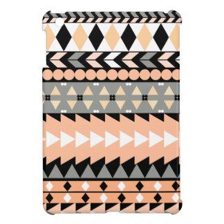 Peach Aztec Black iPad Mini Cover