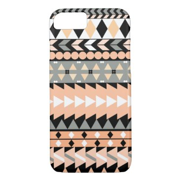 Aztec Themed Peach Aztec Black iPhone 7 Case