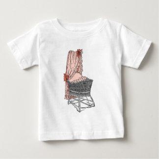 Peach Baby Bassinet Baby T-Shirt