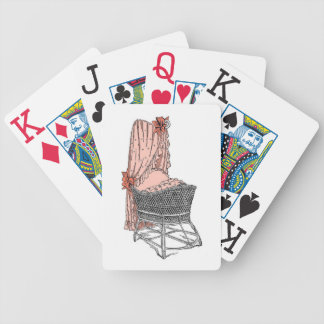 Peach Baby Bassinet Playing Cards