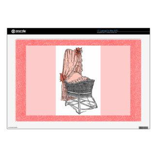 Peach Baby Bassinet Zazzle Skin Laptop Skins